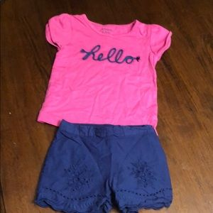 Crown and ivy toddler girls outfit 2t
